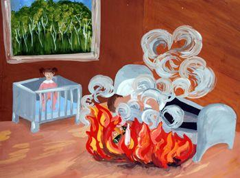 Детские рисунки пожарная безопасность для детского сада