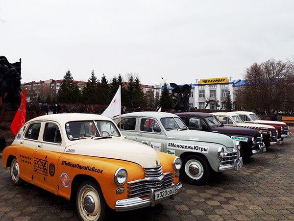 Югорские «Победы» посетили Курган и начали своё путешествие по Казахстану